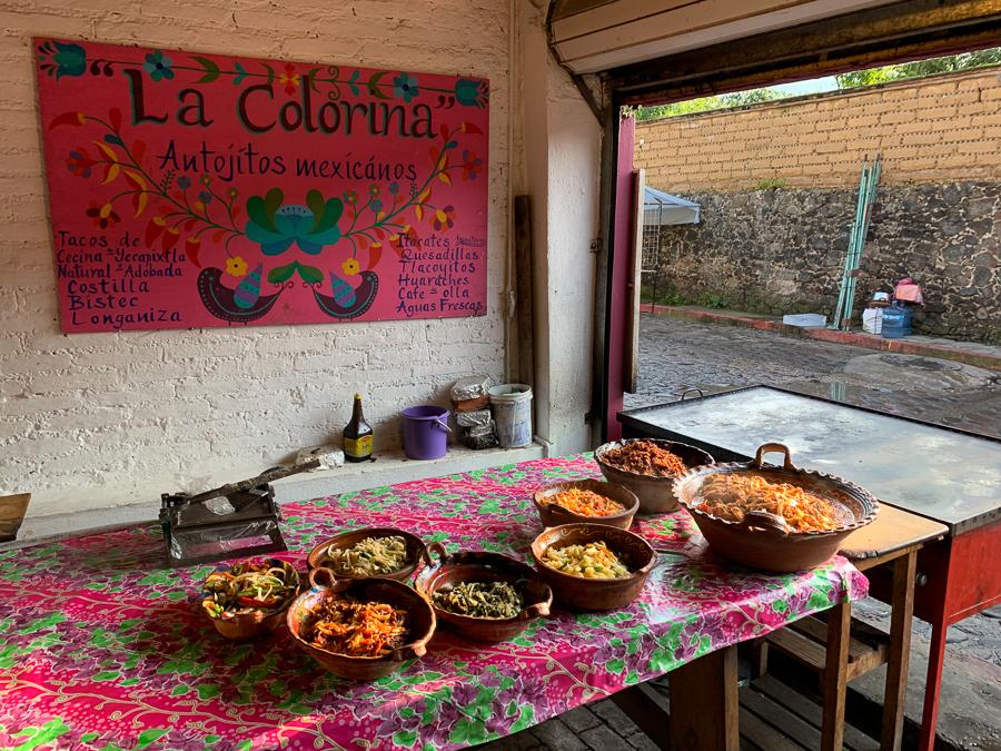 Restaurant meal, Tepoztlan, Mexico ©2019, Cyndie Burkhardt