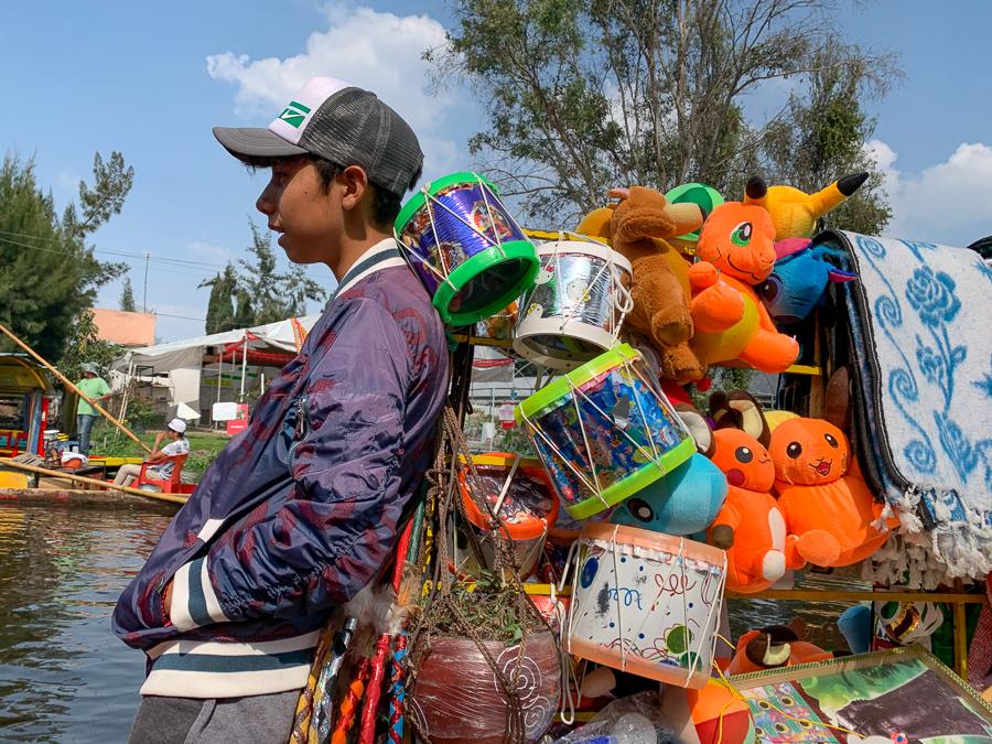 Trajinera vendor, Xochimilco, Mexico ©2019, Cyndie Burkhardt