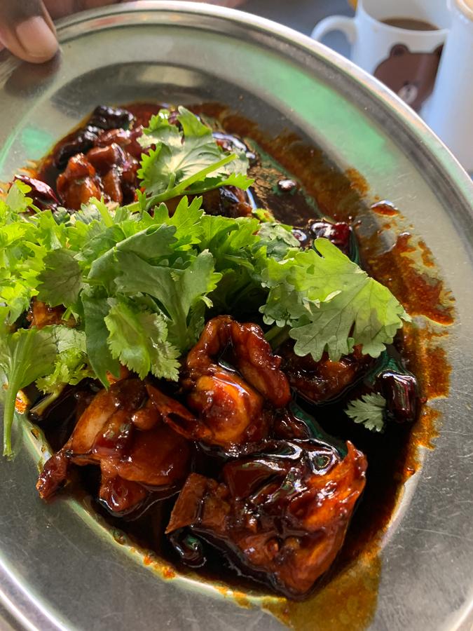 Petaling Street and congee, Kuala Lumpur, Malaysia, ©2020, Cyndie Burkhardt.