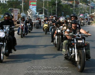 About 500 motorbikes took part in last years mass ride around Pattaya and Jomtien. Photo: John Le Fevre