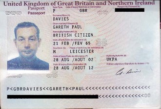 How Leicestershire English teacher Gareth Davies looked at the time his passport was issued