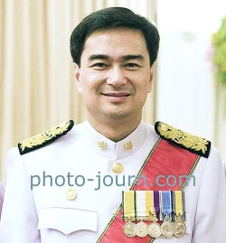 "Former prime minister Abhisit Vejjajiva ""people have a right to demonstrate in a democracy"""