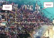 A satellite photo of Kyaukpyu town, Rakhine State, western Myanmar taken on March 9, 2012.