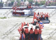 When former prime minister Abhisit Vejjajiva implemented the Thailand Internal Security Act in 2010 red-shirt protesters circumvented roadblocks by travelling by boat.