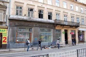 Фотографія наслідків пожежі на вулиці Дорошенка, 33 у Львові 20 вересня 2010 року