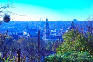 Фотографія осіннього Львова з оглядового майданчика 22 жовтня 2010 року