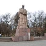 Пам'ятник Івану Франку у Львові на площі перед університетом