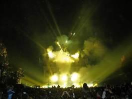 Світлове шоу 30 вересня 2006-го року до 750-річчя Львова, будівля Львівської опери та проспект Свободи.