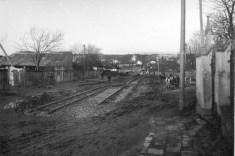 Прокладання трамвайної лінії вулицею Мечникова (1910-ті)