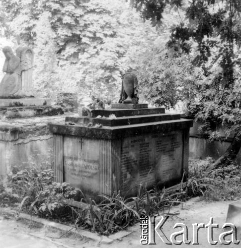 На могилі Габріелі Запольської. Личаківський цвинтар