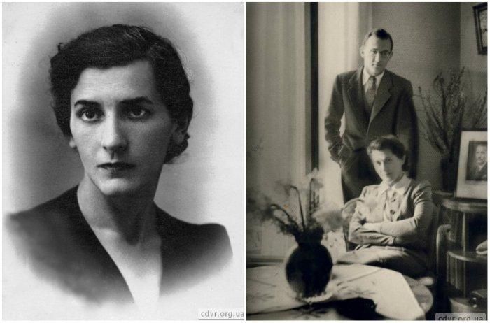 На фото: Ольга Коновалець (Федак), праворуч: Ольга Коновалець з сином Юрієм