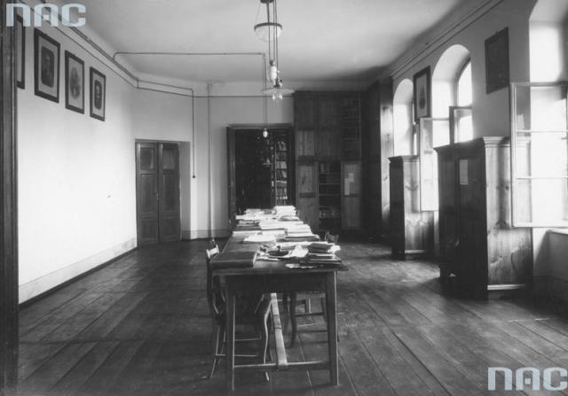 Дослідна станція рільничо-лісового факультету у Дублянах, фрагмент бібліотеки, 1934