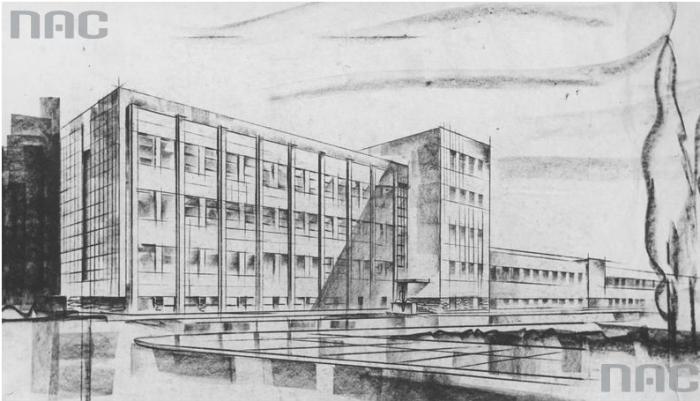 Проект нових будівель факультету машинобудування та електротехніки, 1936