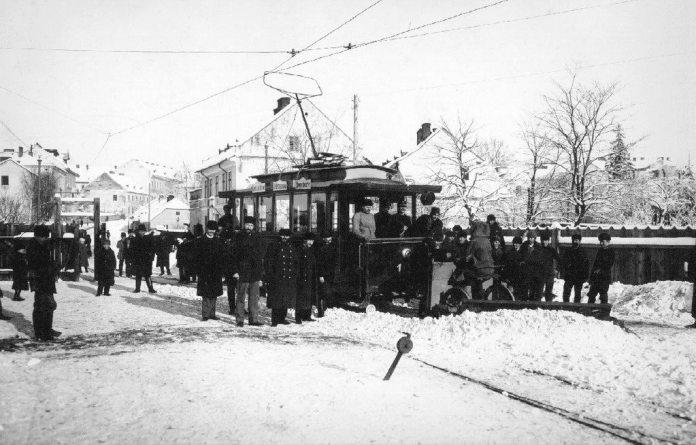 Трамвай на вулицях Львова, кінець ХІХ ст.