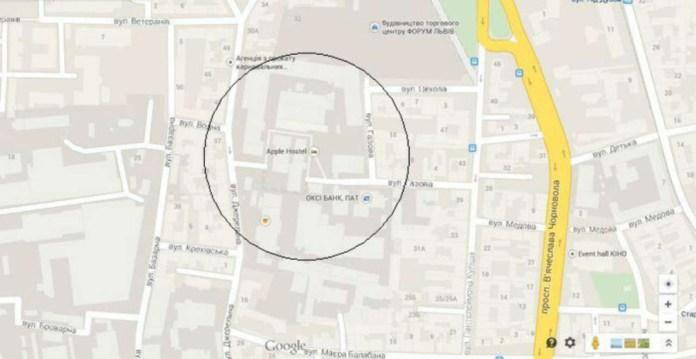 Вулиця Газова і прилегла територія львівської газовні на мапі міста.