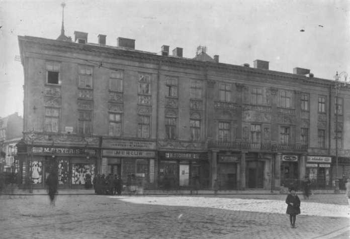 Будинок Гауснера від вул. Легіонів. Фото 1912 р.