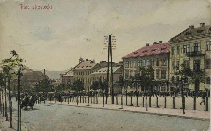 Площа Стрілецька на поштівці, поч. XX ст.