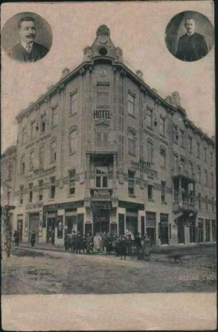 """Поштівка із зображенням """" Народної гостинниці """", до 1914 року"""