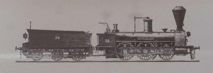 """Паротяг """"Jarosław"""", саме такий локомотив привів перший потяг до Львова"""