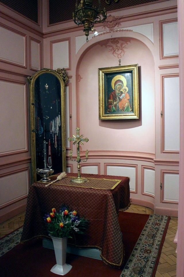 Освячення каплиці з чудотворною іконою Львівської Богородиці XV ст.в палаці Потоцьких
