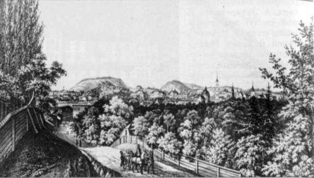 вул.Св.Юра у 1852 р.,літографія Стенчинського