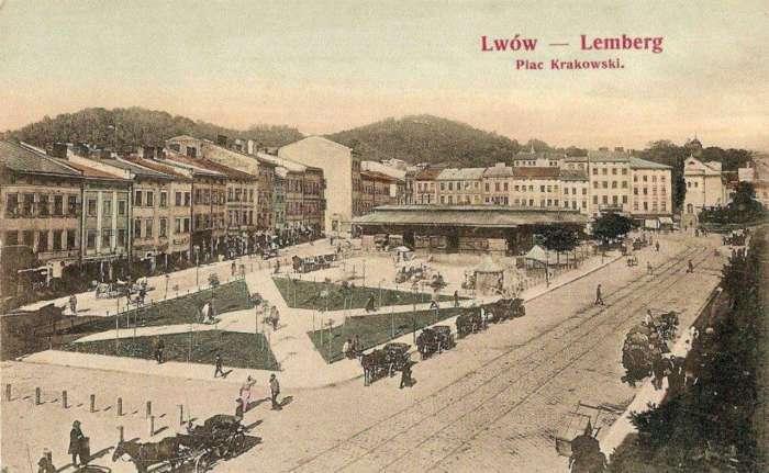 Площа Краківська, поштівка, до 1905 року