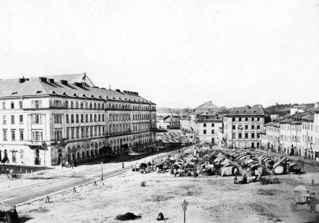 Давня Краківська площа, фото Ю. Едера, 1860 - 1870 рр.