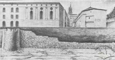 Велика синагога середмістя на малюнку- схемі Францішека Ковалишина, 1910 рік