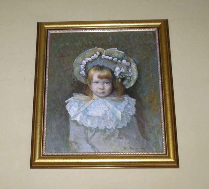 Копія портрету роботи І.Труша із зображенням Катерини Грушевської. Зберігається у музеї Грушевського. Фото 2015 року