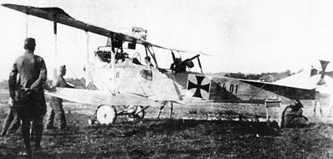 Літак Hansa-Brandenburg C.I 6-ї польської ескадри в австрійському окрасі, фото, 1918-1920 роки.