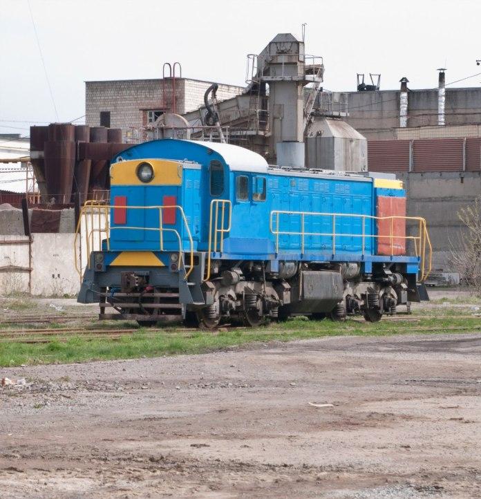 Тепловоз ТГМ4 на підприємстві станції Персенківка, фото 2012 рік