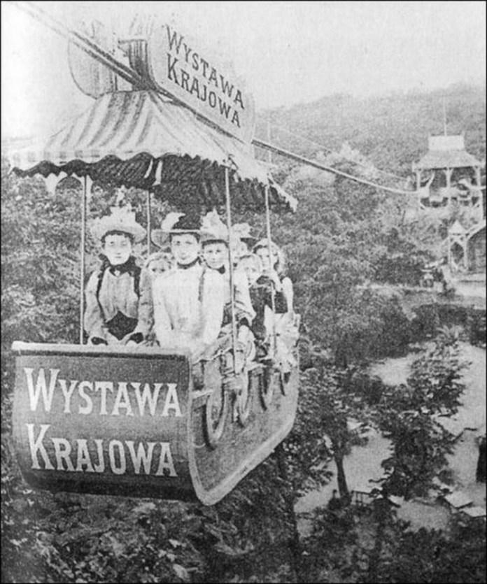 Канатна дорога на виставці. Фото 1894 року