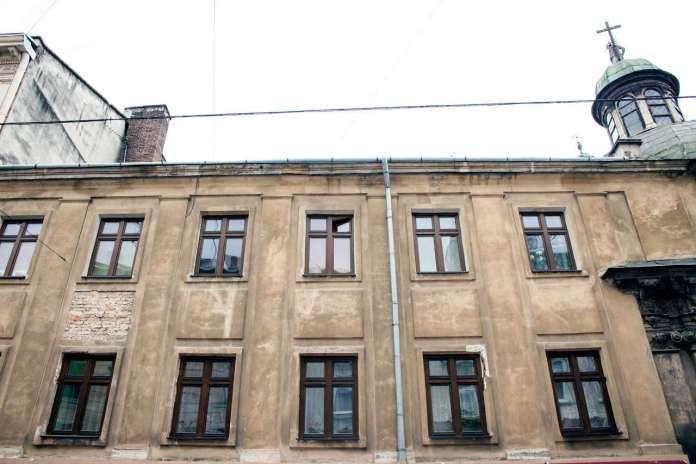 Фасад будівлі від вул. Галицької. Фото 2015 року