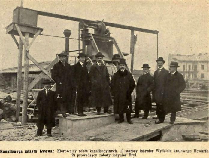 Керівництво другого етапу засклепіння Полтви. Фото 1913 року