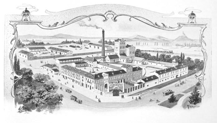 Поштівка з фабрикою Бачевського.