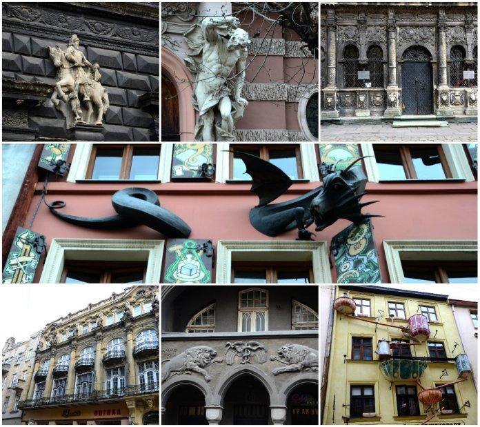 Вісім оригінальних фасадів львівських будинків