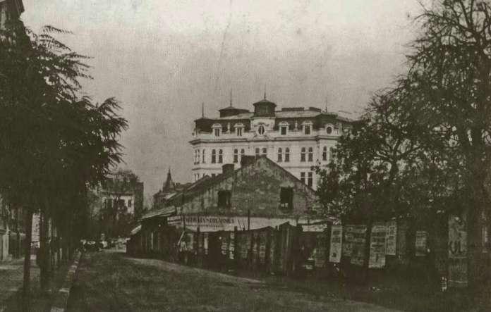 Вид на фрагмент вулиці Романовіча (нині - Саксаганського). Фото до 1914 року