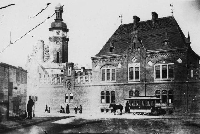Пожежна дільниця на пл. Митній, фото кінець XIX століття.