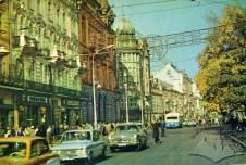 Тролейбус марки МТБ-82Д маршруту №4 на пр-ті Леніна (тепер пр-т. Свободи), фото, 1965-1969 роки.
