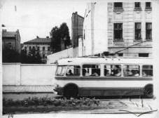 Тролейбус на вулиці 700-річчя Львова, фото, 1963-1964 роки.