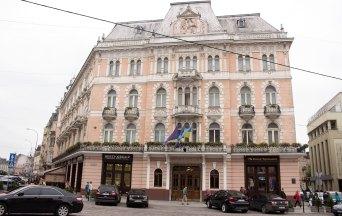 """Готель """"Жорж"""" де у 1898 році тут відбулося святкування сторіччя """"Енеїди"""" І. Котляревського"""