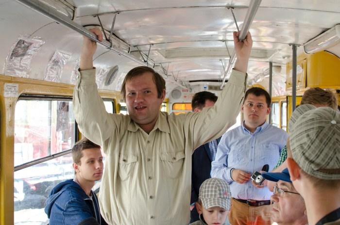 """Під час екскурсії у трамваї """"Tatra T4SU"""" №869."""