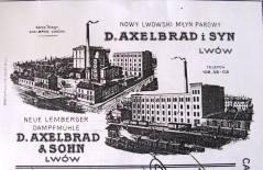Рекламний плакат фірми «Д. Аксельбрад і син».