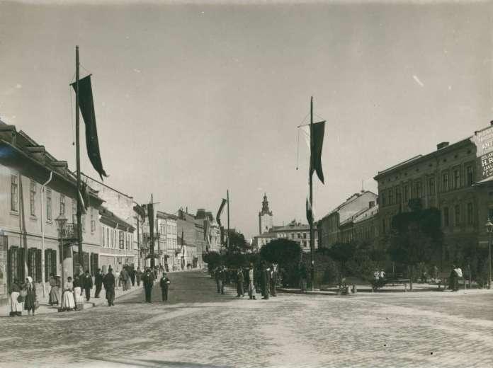 Вулична сцена на вулиці Академічній. Фото 1894 року