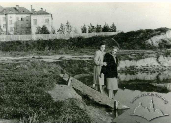 Піскові озера перед впорядкуванням. Фото початку 1950-х років