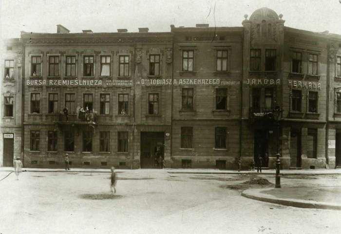 Будівлі колишньої ремісничої бурси імені Тобіаша Ашкеназі фундації Германа на Лемківській. Фото до 1914 року