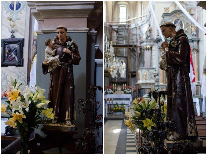 Статуя Святого Антонія в костелі Святого Антонія