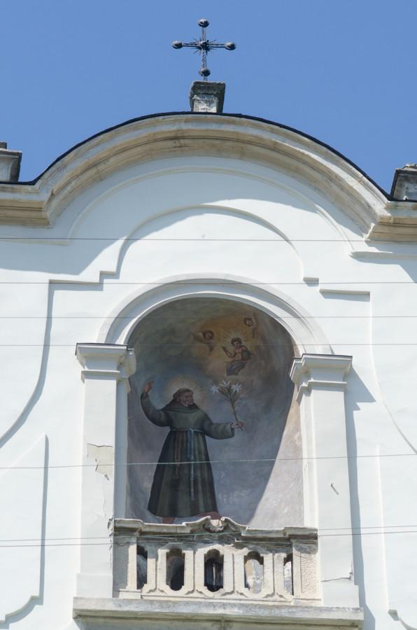 Зображення Святого Антонія на горі костелу