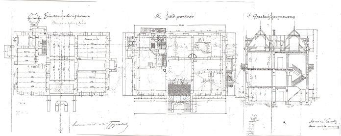 Поверховий план вілли Михайла Грушевського.