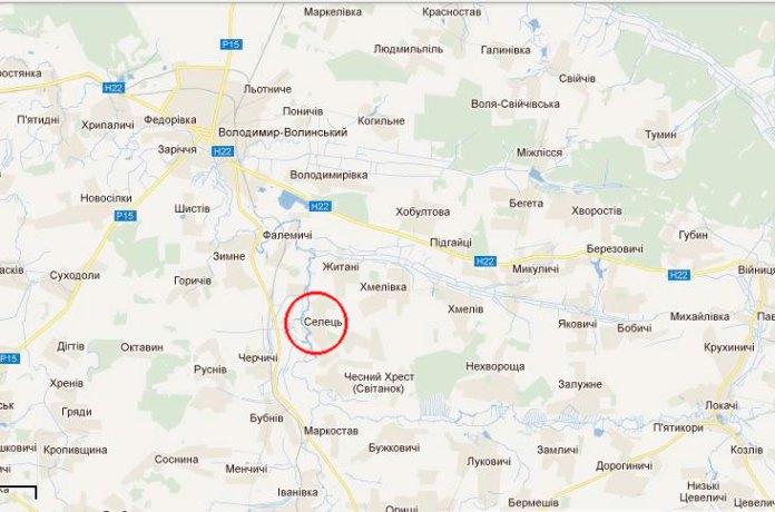 Село Селець, де народилась Олена Казімірчак-Полонська, на карті України